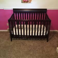 dark cherry wood crib 12981