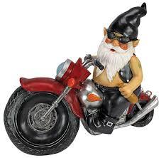 biker garden gnomes lawn ornaments born to be free