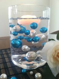 pearl vase fillers elegant teal blue ivory floating jumbo pearls vase
