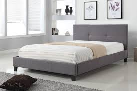 good quality affordable linen style grey fabric bed in kitchener