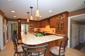 medium stained wood kitchen holmdel nj by design line kitchens