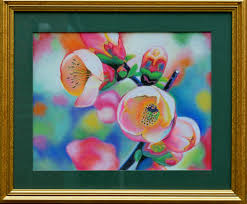original pastel drawing on paper in a passe partout under the glass in a frame
