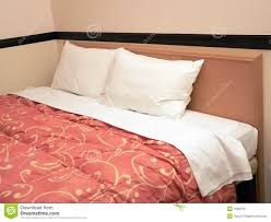 double bed with two pillows royalty free stock image image 1620316