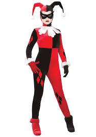 ladies harley quinn costume batman villain halloween costumes