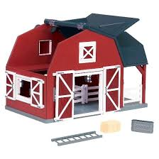 Toy Barn With Farm Animals Terra Wooden Horse Barn Target