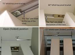 How To Install Folding Closet Doors Install A Shorter Jeld Wen Bifold Top Pivot Bracket Swisco