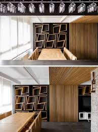 creative seat storage was added to walls in this room contemporist