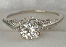 boho wedding ring vintage wedding ring boho single diamond on the hunt