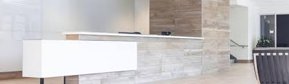 Glass Reception Desk A Sleek Tile And Glass Reception Desk Alicia Hylton