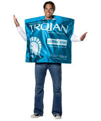 trojan lubricated condom funny halloween costume
