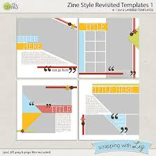 Zine Template by Digital Scrapbook Template Zine Style 1 Scrapping With Liz