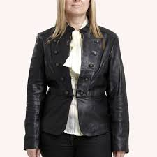 online women leather military jacket plus size leather military