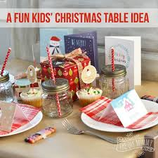 a fun kids christmas table setting idea win a holiday party