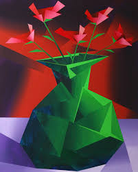 Flower Vase Painting Ideas Abstract Flower Vase Prism Acrylic Painting Painting By Mark Webster