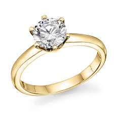 engagement rings yellow gold 1 2 ct igi certified 14k white yellow gold brilliant cut