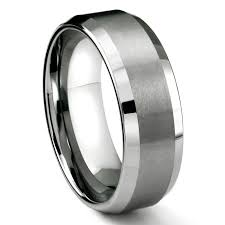 most comfortable wedding band mens tungsten rings wedding bands titanium