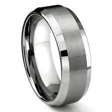 comfort fit titanium mens wedding bands rasoret tungsten carbide ring in comfort fit and satin finish