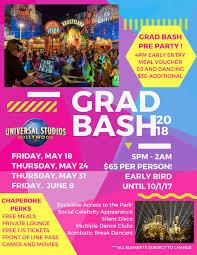 Six Flags Meal Pass Grad Bash At Universal Studios Hollywood California Senior Grad