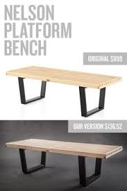Modern Furniture Knockoff by Diy Hairpin Bench Furniture Projects Pinterest Bedrooms