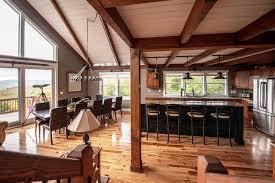 moose ridge lodge post and beam rustic kitchen portland