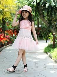 2017 wholesale infant summer dress girls party dress kids party