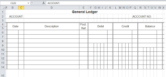 Free Ledger Template general ledger template and free