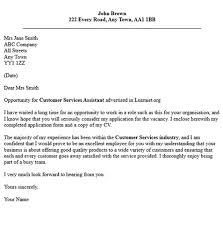 cover letter customer service sample