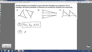 geometry chapter 4 review congruent triangles youtube