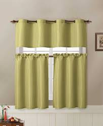 amazon com jacquard kitchen window curtain set 2 rod pocket