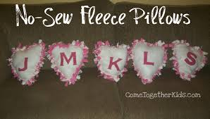 come together kids no sew fleece pillows