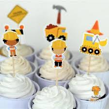 construction cake toppers 2018 wholesale construction cake toppers dump trucks cupcake picks