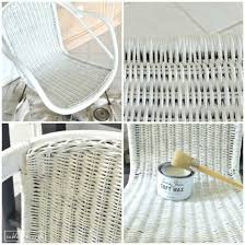 Can You Paint Wicker Chairs Chalk Paint Wicker Chair Makeover Table And Hearth