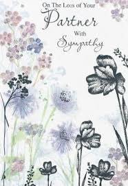 iparty sympathy cards loss of your partner from andersons
