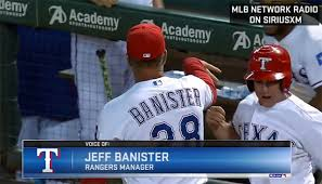 Jeff Banister Look Jeff Banister Catches Self Celebrating With Rangers Bat Boy