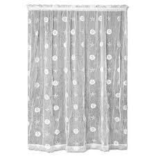 White Lace Shower Curtain With Valance by Heritage Lace Semi Opaque Pineapple 45 In L Polyester Valance In