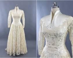 wedding dress ivory 1950s wedding dress etsy