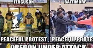 Oregon Ducks Meme - brutal meme destroys media coverage of oregon protest top right news