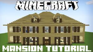 Blueprints For Mansions by Minecraft Wooden Mansion Tutorial Part 1 Youtube