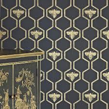 honey bees charcoal wallpaper barneby gates wallpaper bg0700201