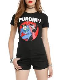 spirit halloween batman shirt batman the animated series the joker u0026 harley puddin girls t