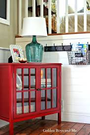 Entryway Storage Bench Red Leather Entryway Bench Entryway Makeover Red Entryway Storage