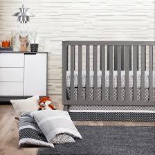 Grey And White Crib Bedding Trend Lab 3pc Crib Bedding Set U2013 Ombre Gray Target