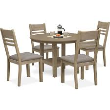 for sale round dining table tribeca round dining table and 4 side chairs gray value city clever