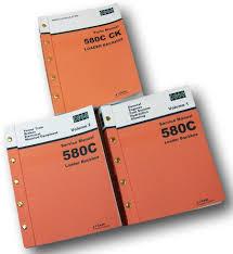 case 580c loader backhoe service parts manuals repair shop tractor