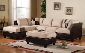 Modular Sectional Sofa Microfiber Sofa Modern Sectional Double Chaise Sectional Modular Couch Grey
