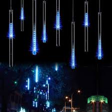 upgraded led meteor shower lights drop icicle snow falling omgai