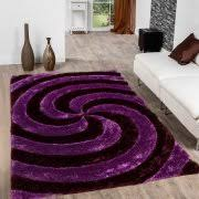 Purple Area Rugs Allstar Purple Shaggy Area Rug With 3d Purple Spiral Design