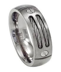 mens double rings images Double cable men 39 s titanium ring just men 39 s rings jpg&a