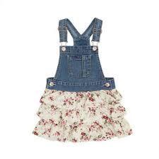 jordache toddler ruffle floral denim skirt all walmart com