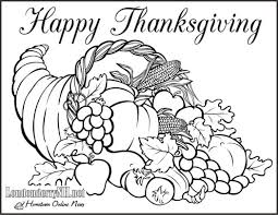 happy thanksgiving cornucopia coloring book page 523710 coloring